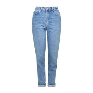 Topshop Moto High Waisted Blue Denim Mom Jeans